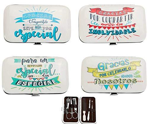Set di 24set per manicure'frasi'-astucci, astuccio manicure Originali convenienti per dettagli...