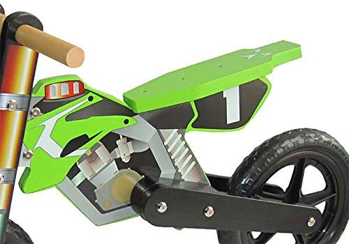 Dunjo Bicicletta Senza Pedali in Legno Cross PRO, Verde
