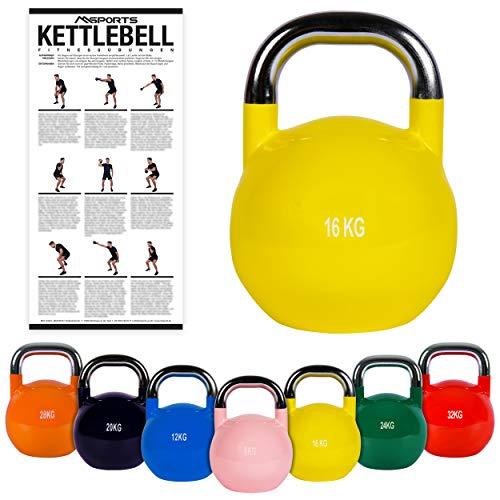 Kettlebell Competition 4,32kgEsercizi per la postura. Qualità professionale. Kettlebell...