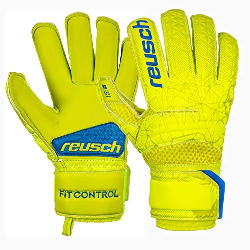 Reusch - Guanti da Portiere per Bambini Fit Control S1 Roll Finger, Bambini, 3972217, Lime/Safety...