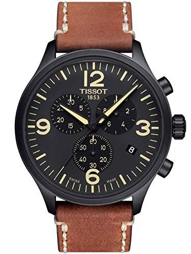 TISSOT Orologio Cronografo Quarzo Uomo con Cinturino in Pelle T1166173605700