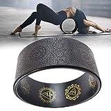 Augproveshak Rueda de Yoga Rueda de Apoyo de Dharma Yoga más Fuerte y más cómoda para Estirar, Mejorar Flexiones de Espalda y flexibilidad, Accesorio de Dharma Yoga