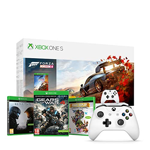 Microsoft Xbox One S - Consola 1 TB + Forza Horizon 4 + Microsoft - Xbox Wireless Controller Gamepad, Blanco (PC, Xbox One S)