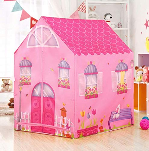 SKEDIZ Jumbo Size Extremely Light Weight , Water & Fire Proof Doll House Tent for Girls (Doll House)