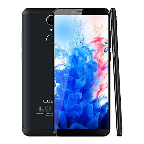 CUBOT Nova 4G LTE Smartphone Ohne Vertrag 5.5 Zoll(18:9) HD+ Display 13.0MP+ 8.0MP Kamera,Dual SIM, Android 8.1,3GB RAM+16GB ROM Speicher,Fingerabdruck Sensor,2800mAh Akku (Schwarz)