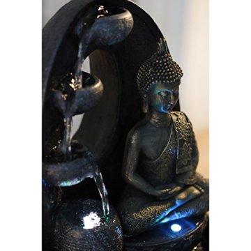 Zen'Light - Harmonie Fuente de poliresina, 26x 16x 40cm, Color Negro 4