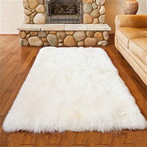 HEQUN Faux pelliccia di agnello di pecora tappeto, pelliccia sintetica Soffice Pelliccia di agnello...