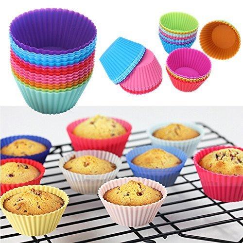 Bulfyss Silicone Round Muffin Mould - Set of 6
