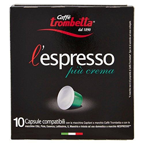 Caffè Trombetta L'Espresso Più Crema, 8 Confezione da 10 Capsule (80 capsule)