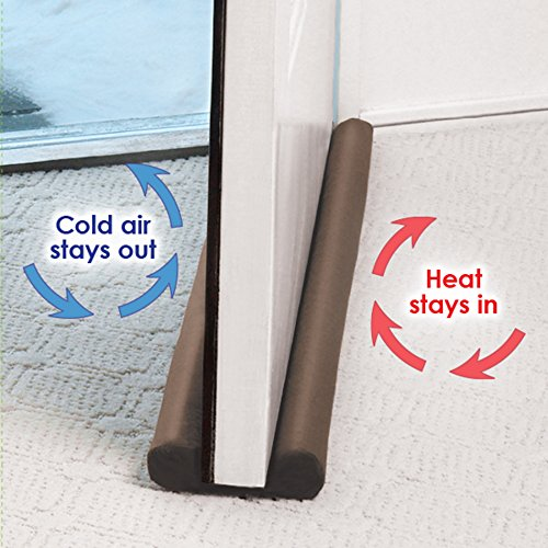 AB SALES Cotton Twin Door Draft Guard for Air Conditioner Split (Brown)