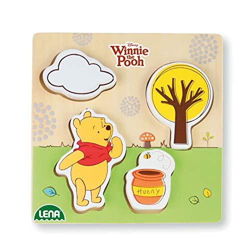 Lena 32121 Disney Winnie the Pooh l'orsetto Walt Disney gioco di legna, multicolore, ca. 14 x 2,5 x...