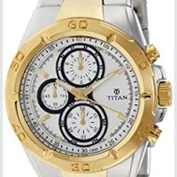 Titan Regalia Chronograph Silver Watch NK9308BM01