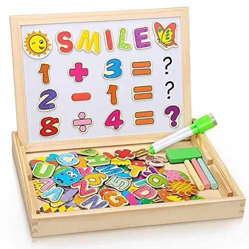 Dookey Puzzle di Legno Magnetico, Legno Giocattolo Puzzle Double Face, Lavagna Magnetica Educativo...