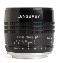 Lensbaby Velvet 56 - Objetivo Retrato para Micro 4/3 (56 mm, f/1.6) Color Negro