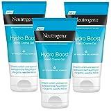 Neutrogena Hydro Boost Hand Creme Gel - Erfrischendes und ultra-leichte Handcreme mit Hyaluron - 3 x 75ml