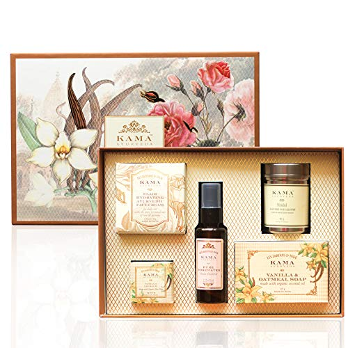 Kama Ayurveda Signature Essentials Gift Box for Her, 270g (Set of 5) 8