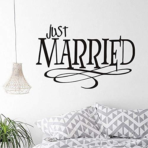 Adesivi e murali da parete Rimovibile Just Married Design Wall Sticker PVC impermeabile Citazioni...