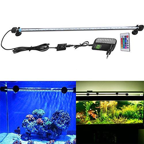 FVTLED Cambia color Lámpara de acuario 8W 62CM 33 luces SMD5050 LED Lampara Tira Pecera Sumergible Submarino Luz