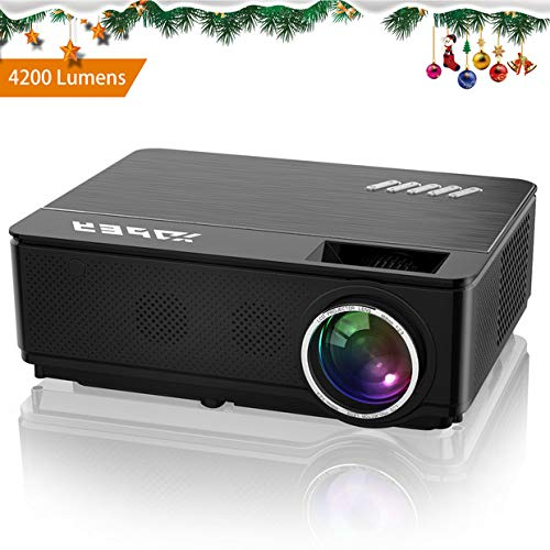 Videoproiettore, YABER 4000 Lumen Led Proiettore Hd Supporto 1080P, 200' Display Home Cinema,...