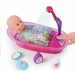 ❀ brigamo interactivo muñecas bañera con funktionierender ducha, incluye Baby de baño muñeca y muchos accesorios ❀