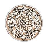 INDEE-PRINT Mandala Diseño Mano Bloque De Impresión Textil De Madera Tallada Sello De Tela De Estampado Pequeño Joyero De Madera