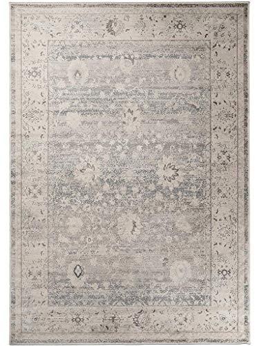 benuta - Tappeto Vintage, Effetto vissuto, in Fibra Sintetica, Colore Tortora, 80 x 150,0 x 2 cm