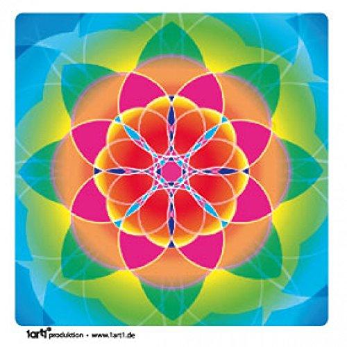 Mandalas - Flor De La Vida, Arcoíris Pegatina Vinilo Autoadhesivo (9 x 9cm)