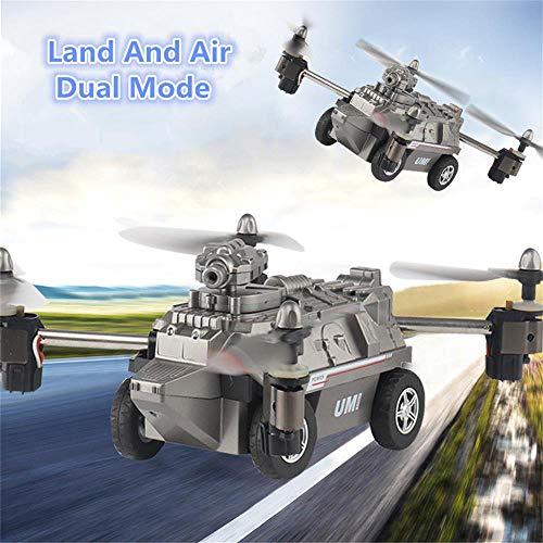 JFMBJS 2 in 1 RC Drone, WiFi Terra E Aria Altitudine Attesa Volante Serbatoio Quadcopter, 200W Videocamera HD Aircraft, La modalità Senza Testa, Migliore Regalo/Giocattolo per I Bambini