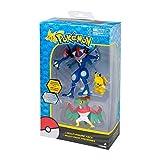 Pokemon Lot de Figurines Pikachu, Ash Greninja, Hawlucha
