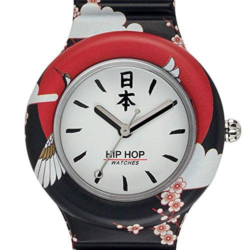 Hip Hop Watches - Orologio da Donna Hip Hop Black HWU0861 - Collezione I Love Japan - Cinturino in...