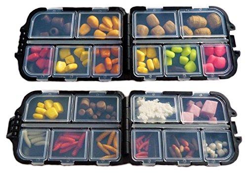 Bait Logic - Selezione di contenitori per Esche finte per Carpe e Pesca al Colpo, Piccoli, Multicolore