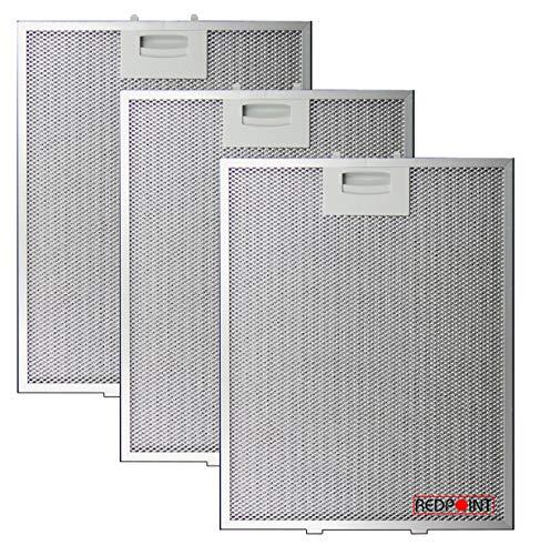 KIT 3 pcs. FILTRI ALLUMINIO per CAPPE BOSCH mm.250 x 311 x 8