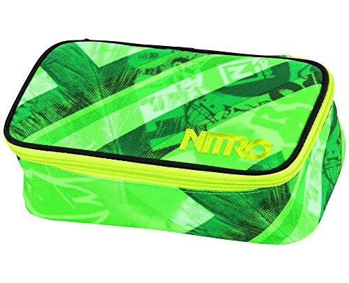 Nitro Pencil Case XL con GEO DREIECK e STUNDENPLAN, astuccio per matite, custodia per la scuola,...