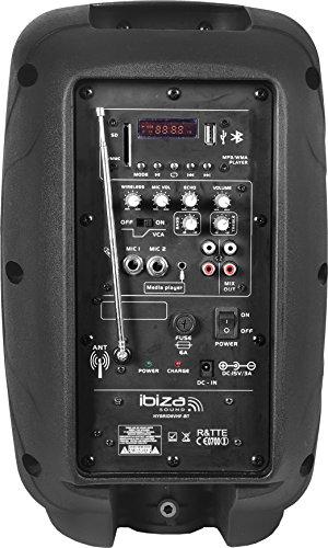"""Ibiza HYBRID8VHF-BT-UK - Sistema de sonorización portátil y autónomo de 8"""", 20 cm"""