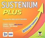 Sustenium Plus garantisce ENERGIA e VITALITA': grazie a creatina, arginina e beta-alanina aiuta a contrastare la sensazione di affaticamento e sostiene con vitamine e minerali.Sustenium Plus è un integratore al gusto di arancia di creatina, L-arginin...