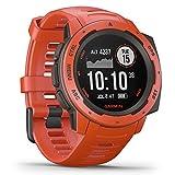 Garmin Instinct, Sportwatch GPS Unisex Adulto, Rosso, Regular