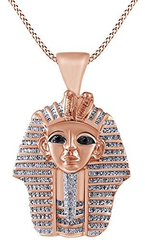 Colgante de faraón en oro de 18k sobre plata de ley