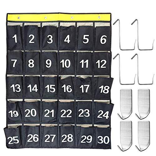 AFUNTA 30Tasche numerate Classroom calcolatrice Holder & Telefono Cellulare Grafico Tasche...