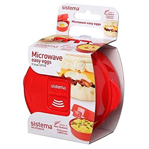Sistema SI1117 Easy Eggs Micro-Ondes Cuiseur à Oeufs Plastique Rouge 45 x 35 x 25 cm