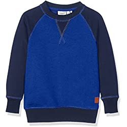 NAME IT Jungen Sweatshirt Nitvodvar BRU SWE Top MZ, , Gr. 104, Blau (Mazarine Blue Mazarine Blue)
