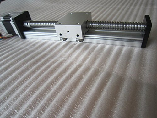 TEN-HIGH STK series 550MM 21.65inch Effective Stroke Linear Stage Actuator DIY CNC Router Parts Ballscrews T8x2 with a 17Nema 42 stepper motor, Ballscrews Linear module sliding table Motion system