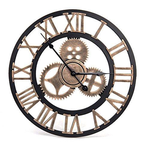 Orologio da parete vintage - Orologio da parete Retro Stile artistico europeo con corona decorativa...