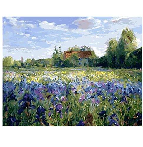 CYKEJISD Puzzle 1000 Pezzi Puzzle 3D Timothy Easton Evening At Iris Field Kit per Adulti Fai-da-Te...
