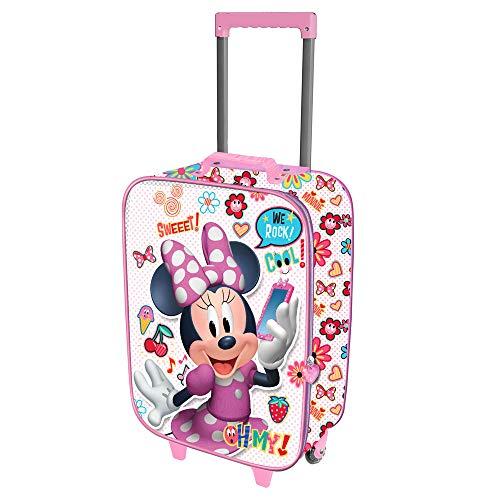 Karactermania Minnie Mouse OhMy!-Valise à Roulettes Soft 3D Valigia per bambini, 52 cm, 23 liters,...