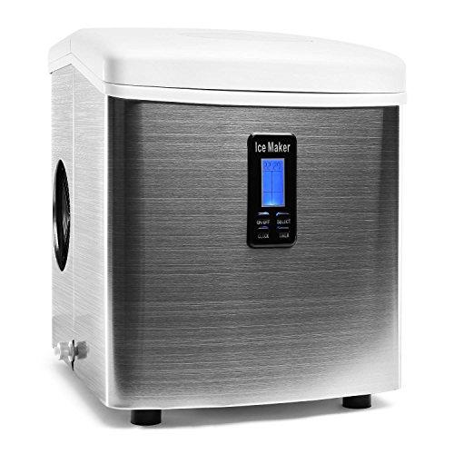 Klarstein Mr.Silver-Frost - Máquina para hacer hielo, color plateado