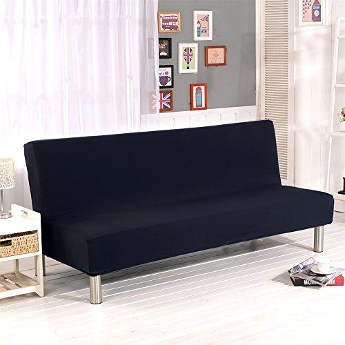 Fodera per divano senza braccioli tinta unita Stretch Fodera per fodera per futon 3 posti Fodera per...