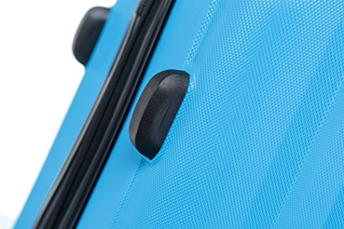 TSA-Schloß 2080 Hangepäck Zwillingsrollen neu Reisekoffer Koffer Trolley Hartschale XL-L-M(Boardcase) in 12 Farben (Türkis, Set) - 5
