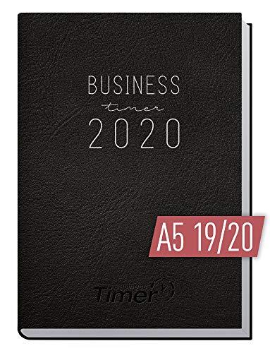 Chäff Business-Timer 2019/2020 A5 schwarz | Wochenplaner 18 Monate: Juli 2019 - Dezember 2020 | Wochenkalender, Organizer, Terminplaner für perfektes Zeitmanagement im Beruf und Alltag