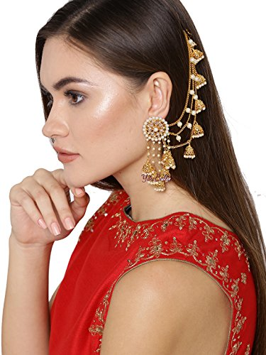 YouBella Earrings for Women Stylish Jewellery Traditional Fancy Party Wear Jhumka/Jhumki Earrings for Girls and Women