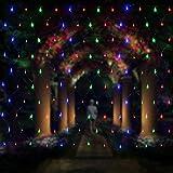 Salcar LED Lichternetz 3 * 2 Meter für Weihnachten Deko Party Festen, Innen, 8 Lichtwechselprogramme (RGB)